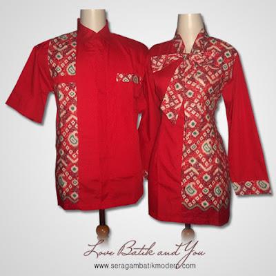 Model Seragam Batik Kombinasi