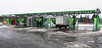 Мойка самообслуживания на заправке Татнефть в Домодедово.