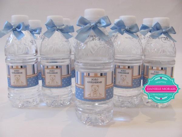 agua personalizada, lembranca de maternidade