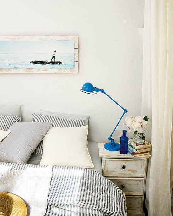 Fresh coastal bedroom