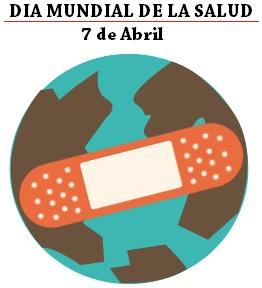 Imagen del Día Mundial de la Salud para niños