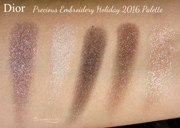 Dior Precious Embroidery 5 Couleurs Eyeshadow Palette for Holiday 2016: photos, swatches, review