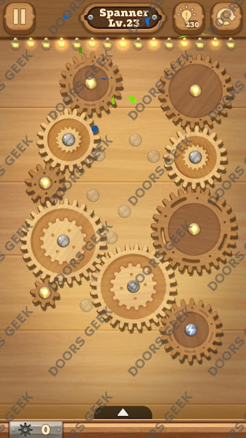 Fix it: Gear Puzzle [Spanner] Level 23 Solution, Cheats, Walkthrough for Android, iPhone, iPad and iPod