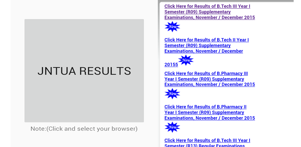Jntua Results Link Android App