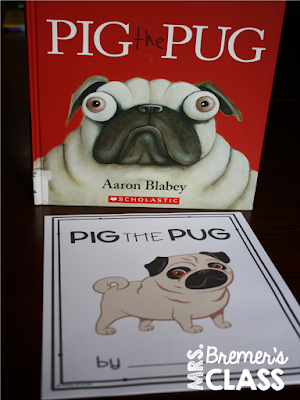 Pig the Pug book study companion activities to go with the picture book by Aaron Blabey. Perfect for whole class guided reading, small groups, or individual study packs. Packed with lots of fun literacy ideas and guided reading activities. Common Core aligned. K-2 #bookstudies #bookstudy #bookcompanion #bookcompanions #picturebookactivities #1stgrade #2ndgrade #literacy #guidedreading  #pigthepug