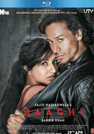 Baaghi 2016 BluRay 400MB Hindi Movie 480p ESub Watch Online Full Movie Download bolly4u
