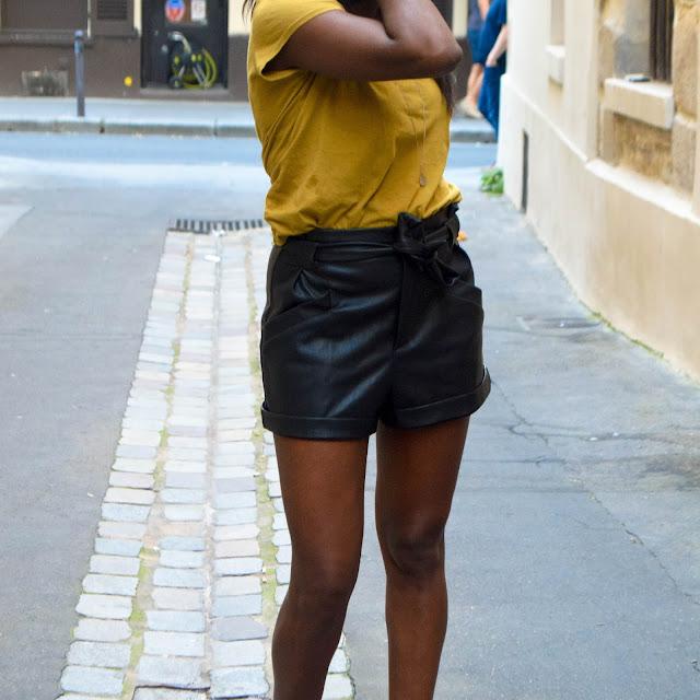 Short Zara en simili