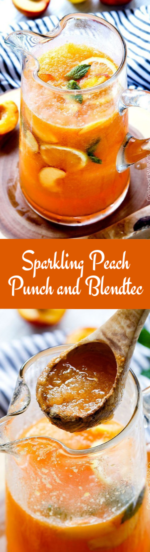 Sparkling Peach Punch and Blendtec #drink #recipe