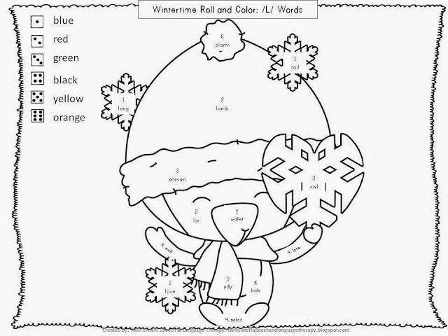 Twin Speech, Language & Literacy LLC: WINTERTIME ROLL