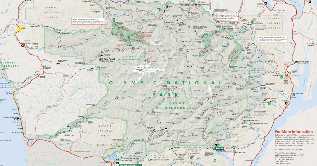 Hiking Maps) Trails on the Olympic Peninsula