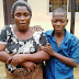Photo: Fake female beggar who uses her son to beg for alms arrested in Lagos