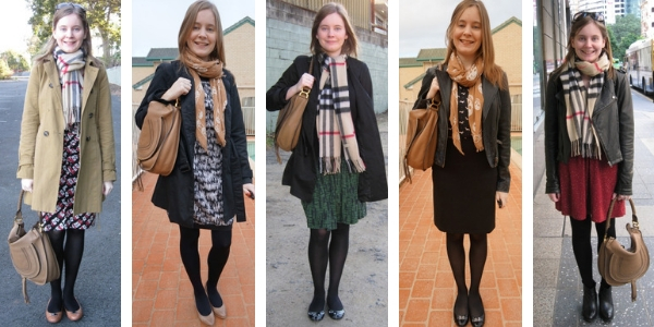 5 ways to wear Chloe Marcie hobo bag in winter layers | awayfromtheblue