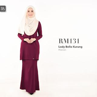 maroon baju kurung