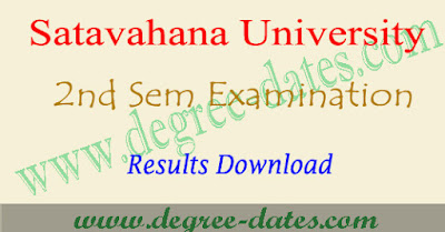 Satavahana university degree 2nd sem results 2017 su ug 1st year result date