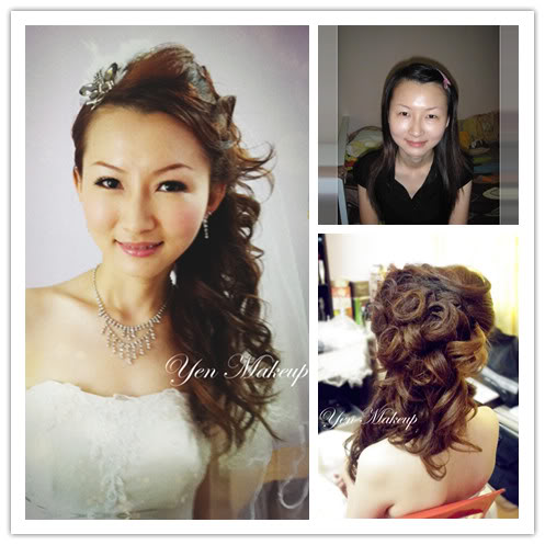 sweet bridal look
