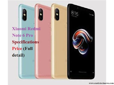 Xiaomi Redmi Note 6 Pro | Specifications | Price