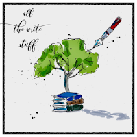 Drawing of a Tree Over Books