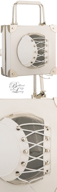 Brilliant Luxury ♦ Marzook Mini Trunk White sperical ball bag