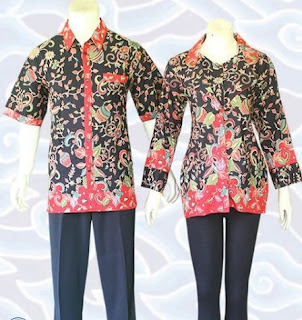 contoh baju batik couple modern