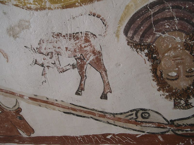 Paintings from the tomb of Petosiris at Muzawaka (L)