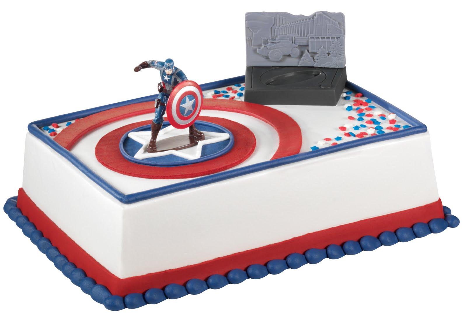 Captain America Cake Ideas Sheet Cake