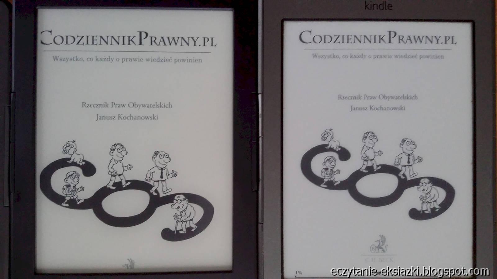 Porównanie ekranu – InkBOOK LUMOS i Kindle Classic
