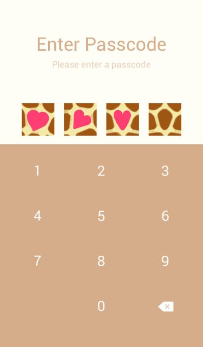 Giraffe Love pattern