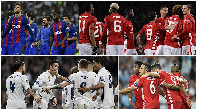 10 Klub Besar Sepakbola Paling Bernilai Versi Forbes 2017