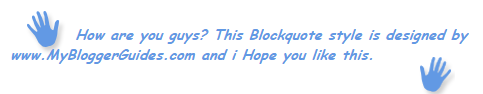Blogger Blockquote Style 14
