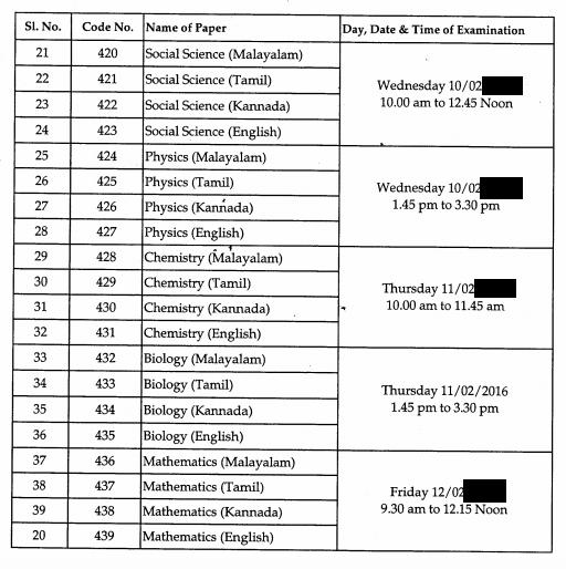 sslc model exam 2017