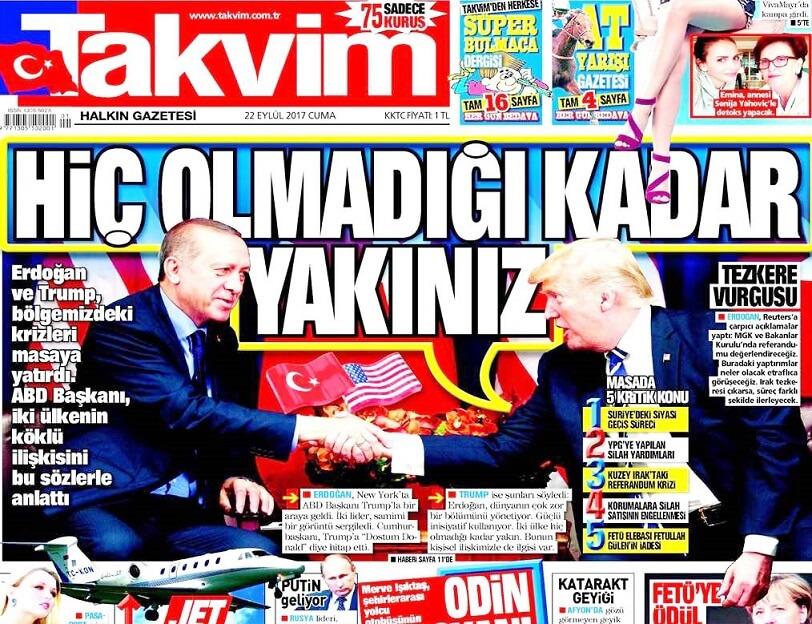 """Résultat de recherche d'images pour """"takvim erdogan trump"""""""