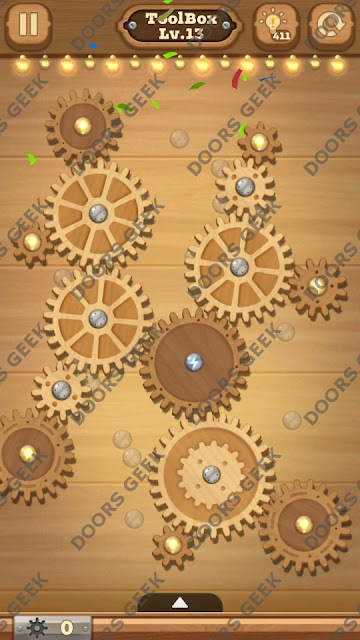 Fix it: Gear Puzzle [ToolBox] Level 13 Solution, Cheats, Walkthrough for Android, iPhone, iPad and iPod