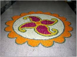 Simple Flower Rangoli Patterns
