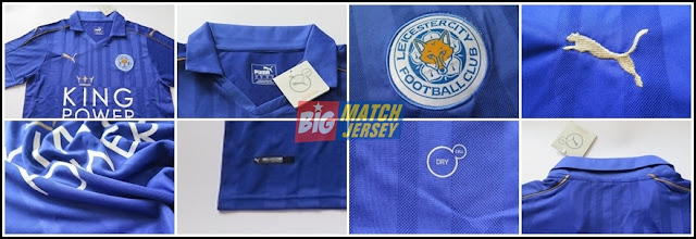 Detail Jersey Go Leicester City Home Terbaru Official 2016-2017