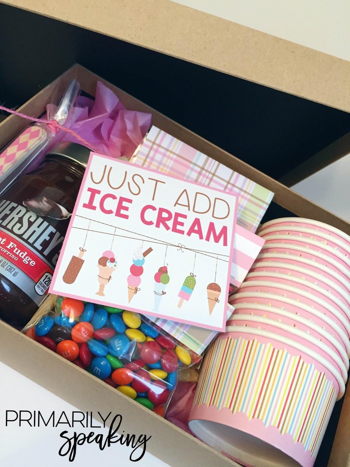 Ice Cream Themed Parent Volunteer Gift Primarily Speaking