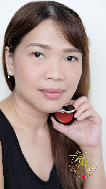 a photo of K-palette Cheek Tint In Classic Red review.  How to create drunk blush.