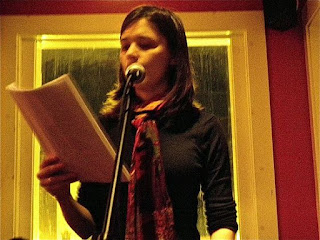 Alyse Knorr, Author of Copper Mother, Mega-City Redux, reading at The Black Squirrel in DC, The Creative Life