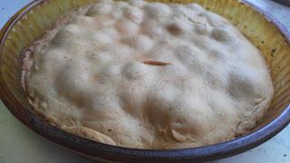 песочный пирог с клубникой готовый