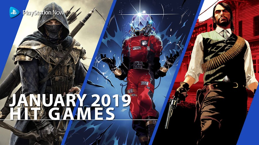 playstation now rdr hit ps4 games january 2019 eso