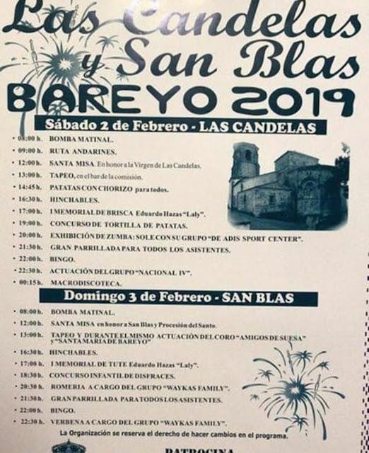 Las Candelas y San Blas en Bareyo 2019