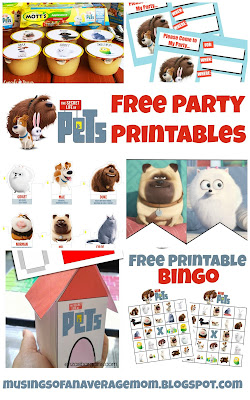 Secret Life of Pets Free Party Printables