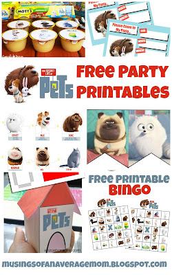 Secret Life of Pets Free Party Printables