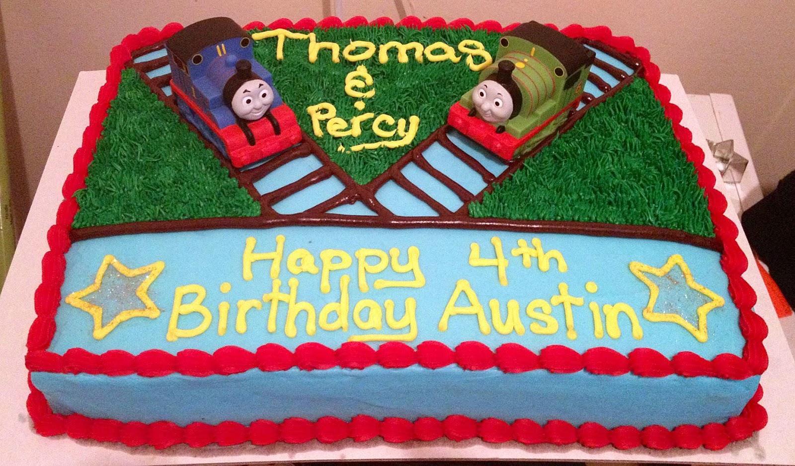Making A Thomas Cake