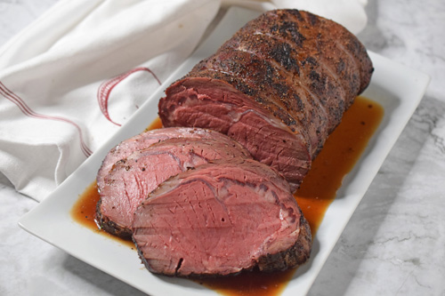 Dry aged smoked ribeye roast from The Offset Smoker Cookbook