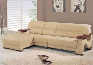 Modern 3Pc Leather Sectional Sofa