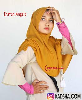 Jilbab serut samping bahu