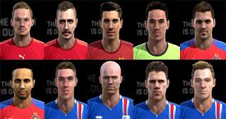 Faces: Bodvarsson, Brabec, Gudmundsson, Hallfredsson, Hamroun, Lewandowski, Lung, Popa,  Saevarsson, Skalak, Pes 2013