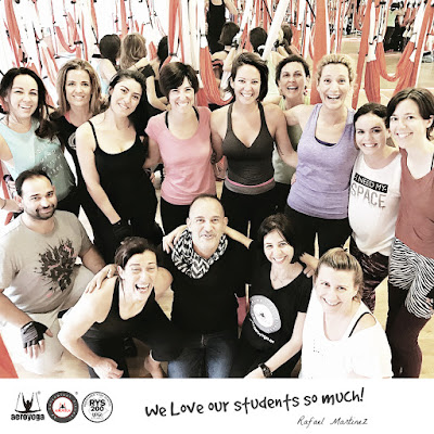 formacion yoga aereo, pilates aereo, Aero, Yoga Aero, PIlates, columpio de Rafael Martinez