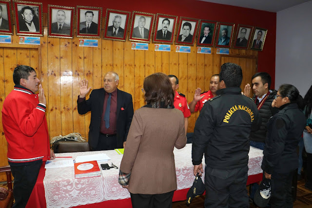 Juramentan nuevos integrantes del CODISEC del distrito de El Tambo