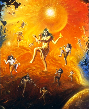 Lord Shiv with the Rudras